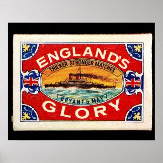 match box of England glory Poster