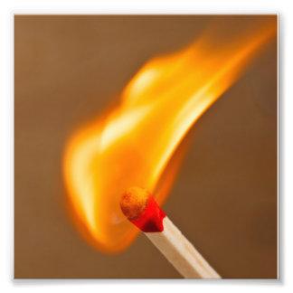 Match Fire Photo Print