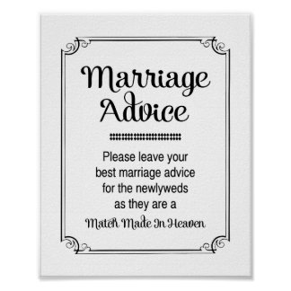 Match Made In Heaven Marriage Advice Sign