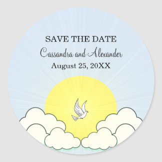 Match Made in Heaven Save the Date Stickers