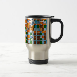 Match multiple color shades  Abstract Collage Art Mugs