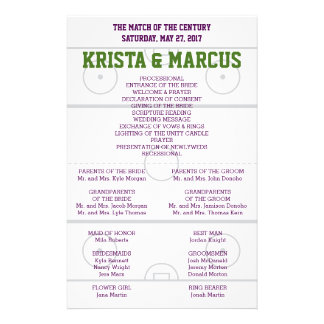 Match of the Century Wedding Program