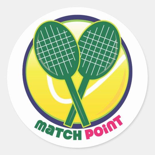 Match Point Classic Round Sticker