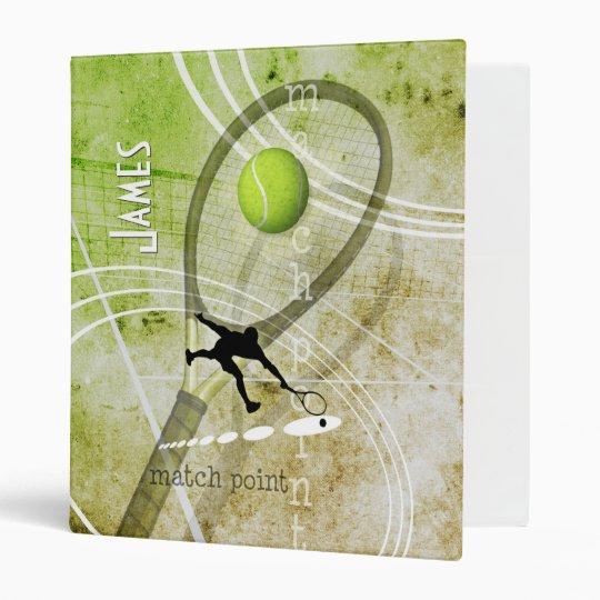 Match Point II men's tennis Vinyl Binder