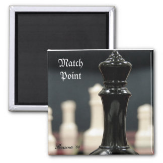 Match Point Square Magnet