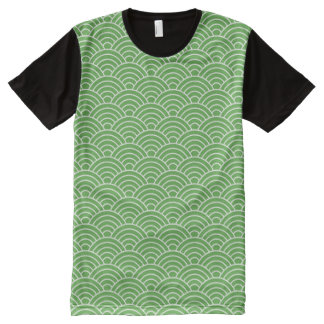 Matcha Fish Scales All-Over-Print T-Shirt