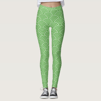 Matcha Fish Scales - Leggings