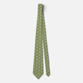 Matcha Green Chiyogami Japanese Flowers Print Tie