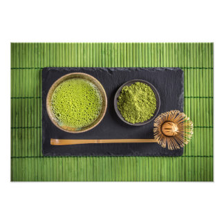 Matcha green tea photo print