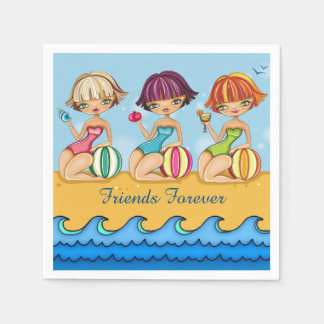 Matching Beach Girls Party Napkin Paper Napkins