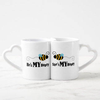 Matching Couples Honey Bees Love Mug Set