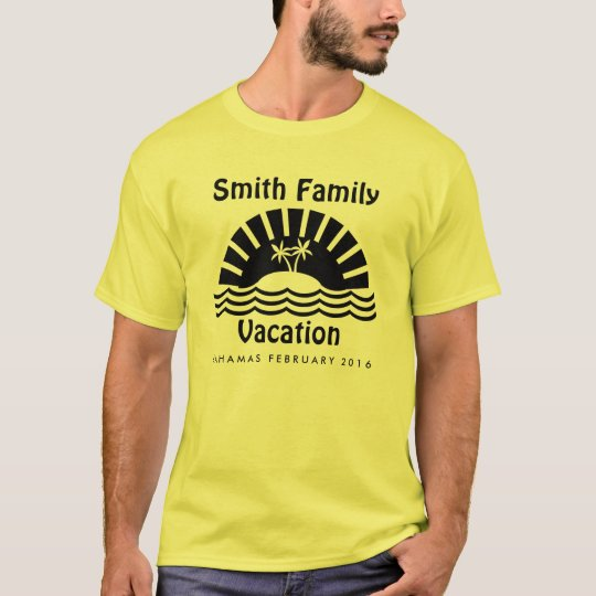 Matching Family Vacation Custom T-Shirt