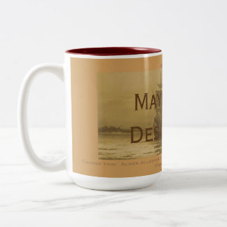 Matching Mayflower Descendants, customized Two-Tone Coffee Mug