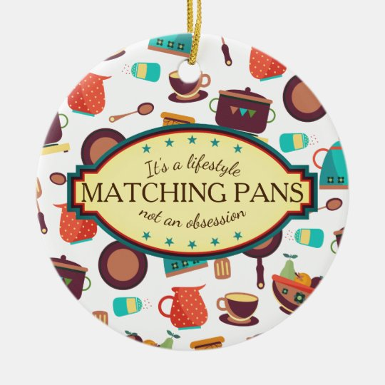 Matching pans obsession cooking Christmas ornament