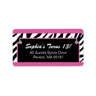 Matching Zebra Print Labels