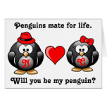 Mate for Life Will You Be My Penguin Proposal Love Greeting Cards