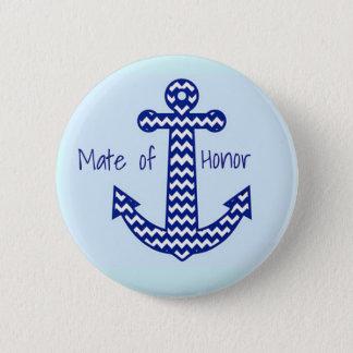 Mate of Honor Nautical Bachelorette Pin