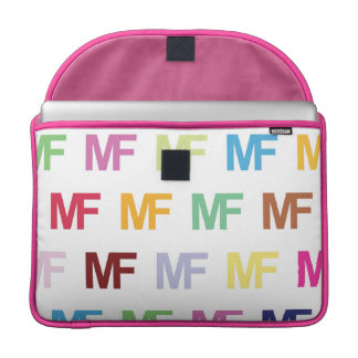 "MateoFigs - MF Colored Logo Art Macbook Pro 15"" Sleeves For MacBook Pro"