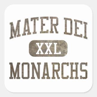Mater Dei Monarchs Athletics Square Sticker