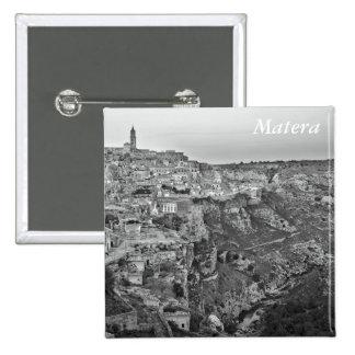 Matera in Basilicata, Italy 2 Inch Square Button