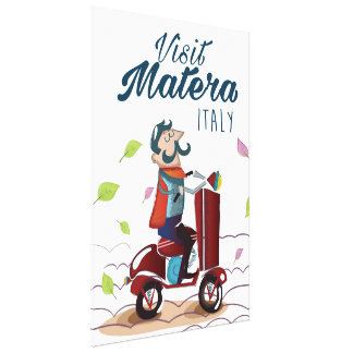 Matera Italy Cartoon Scooter travel print