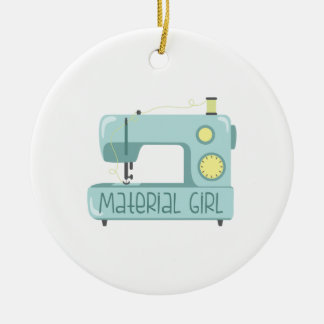 Material Girl Ceramic Ornament