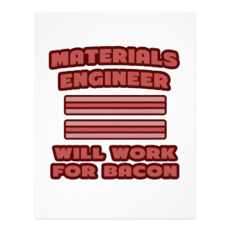Materials Engineer Will Work For Bacon Letterhead