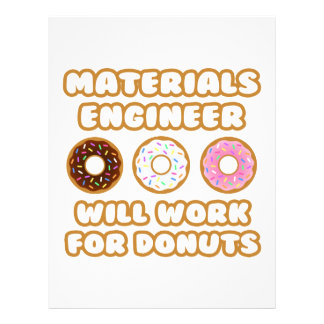 Materials Engineer Will Work For Donuts Customized Letterhead