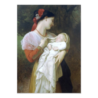 Maternal Admiration by William Adolphe Bouguereau Custom Announcements