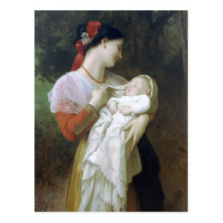 Maternal Admiration by William Adolphe Bouguereau Postcard