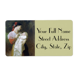Maternal Admiration by William Adolphe Bouguereau Shipping Label
