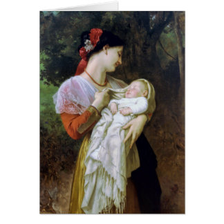 Maternal Adoration Vintage Art Card