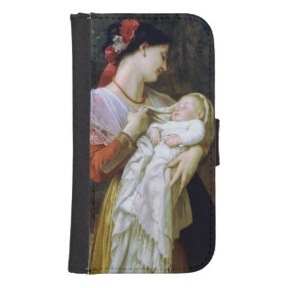 Maternal Adoration Vintage Art Galaxy S4 Wallet