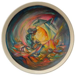 Maternal Bond-Decorative Plate By Timothy Orikri