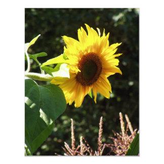 maternal sunflower custom invitations