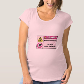 Maternity Hazard don't touch the bump Maternity T-Shirt
