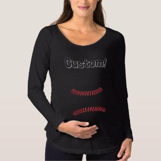 Maternity Momma Custom Baseball Shirt