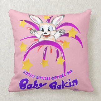 "Maternity 'Pink' Pillow - ""Baby Bakin"""