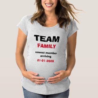 Maternity Pregnancy Announcement Team T Shirt