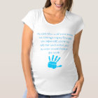 Maternity T-Shirt/Baby Boy hand print with Quote Maternity T-Shirt