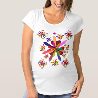 Maternity T-Shirt with Stylized Flower 1