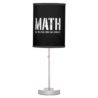 Math and Cool Kids Table Lamp