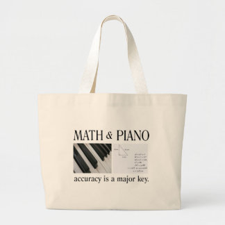 math and piano major key large tote bag