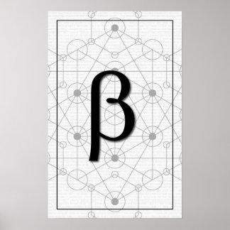 Math Art - Beta Poster