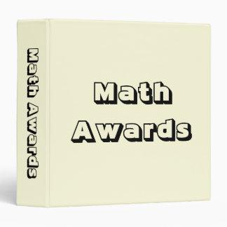 Math Awards Certificates and Memories Binder