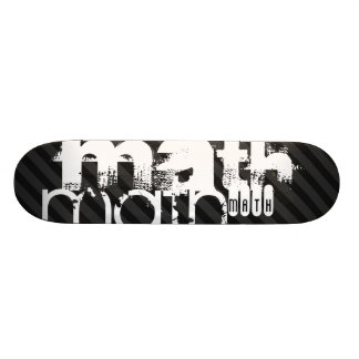 Math; Black & Dark Gray Stripes Skate Boards