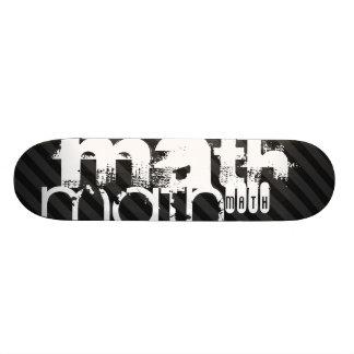Math; Black & Dark Gray Stripes Skateboard Deck