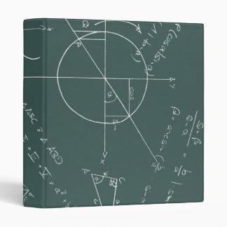 Math blackboard 3 ring binder