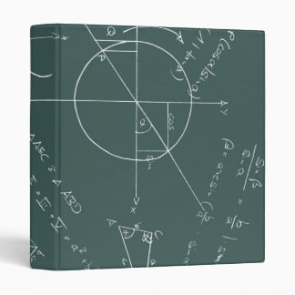 Math blackboard binders