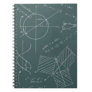 Math blackboard notebooks